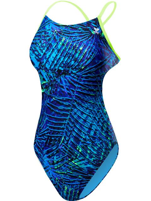 TYR Kauai Cutoutfit Bikini Dam blå